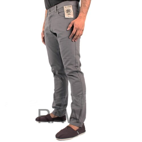 New Mens Designer Enzo Chinos Style Slim Fit in 3 Colours All Size