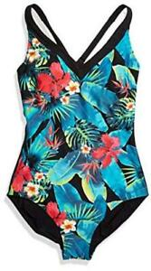 Amoena Women's Palmeira Palm Leaf Print One Piece Swimsuit, Print, Size 16.0 vUq