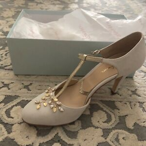 04fa4eb2450 Details about Rachel Simpson Ana Ivory T-Bar Wedding Shoes Heels BRAND NEW  in BOX Sz 40 Bridal