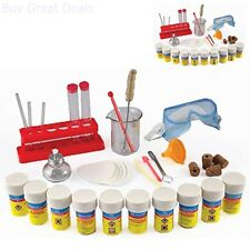 Science Chemistry Lab Children Set Brand New With Glassware Chemicals Burner