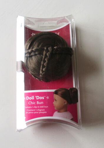 NIP American Girl Chic Brown Bun Doll Do/'s Hair Extention Updo Crisscross Braids