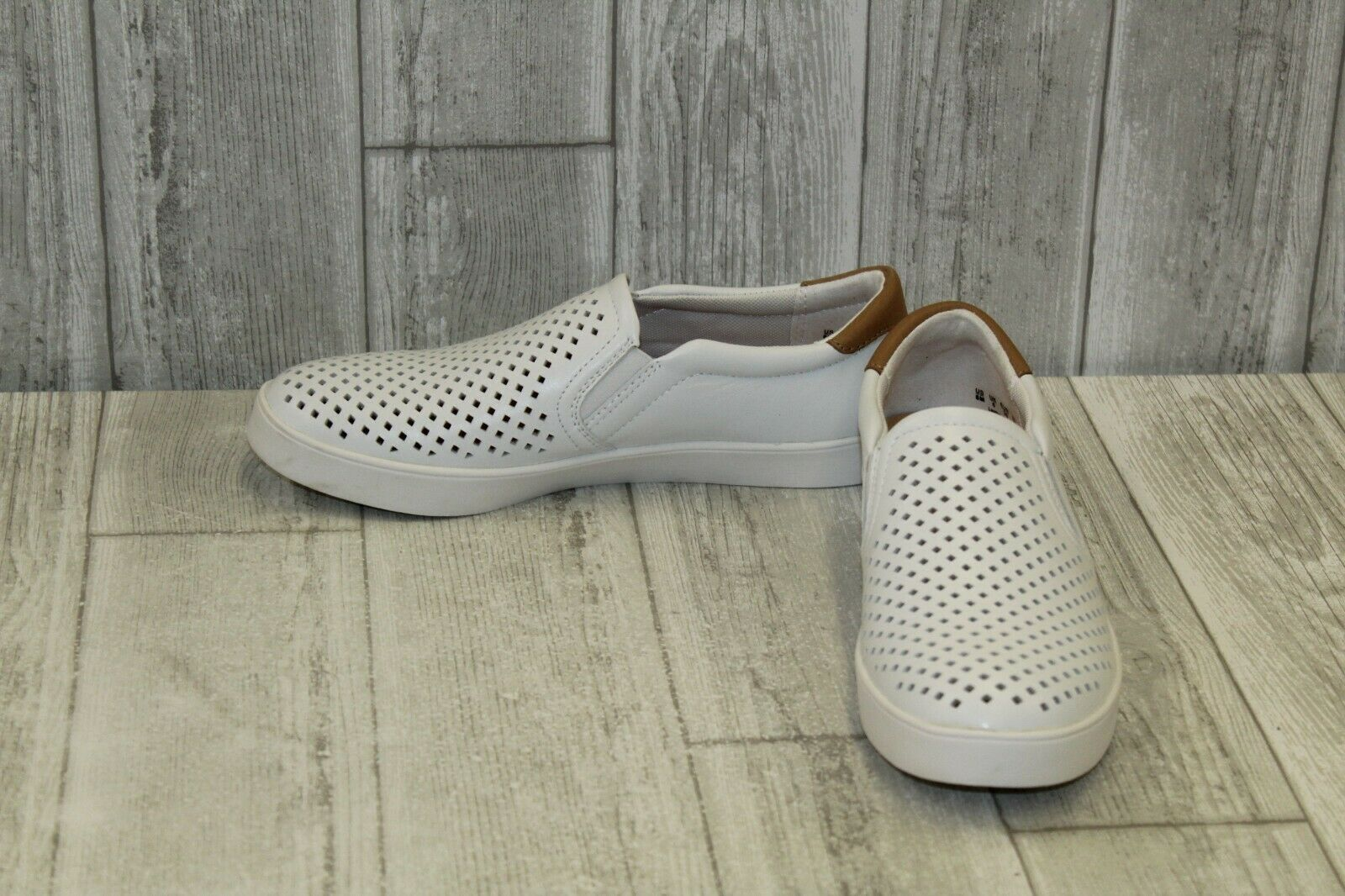 Dr. Scholl's Scout Perforated Leather Slip On shoes, Women's Size 8M, White