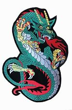 """12"""" Green Large dragon Biker Motorcycle Embroidery Applique Patch-XL"""