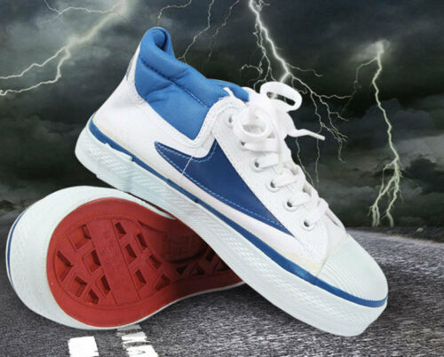 15KV Middle Upper Canvas Insulting Shoes High Voltage Electrician Safety Shoes