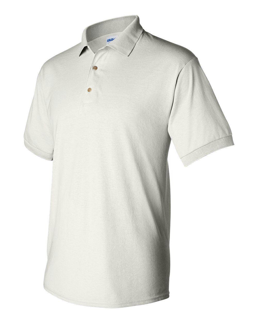 25 Blank Gildan DryBlend Weiß Jersey Polo 8800 Bulk Lot Wholesale S-XL G880