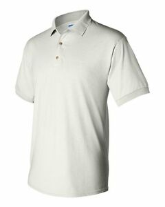 2156707bb11 Image is loading 25-Blank-Gildan-DryBlend-White-Youth-Jersey-Polo-