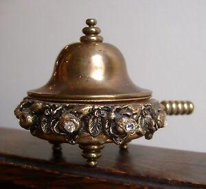 Vintage Rhinestone & Brass Covered Vanity Trinket Dish