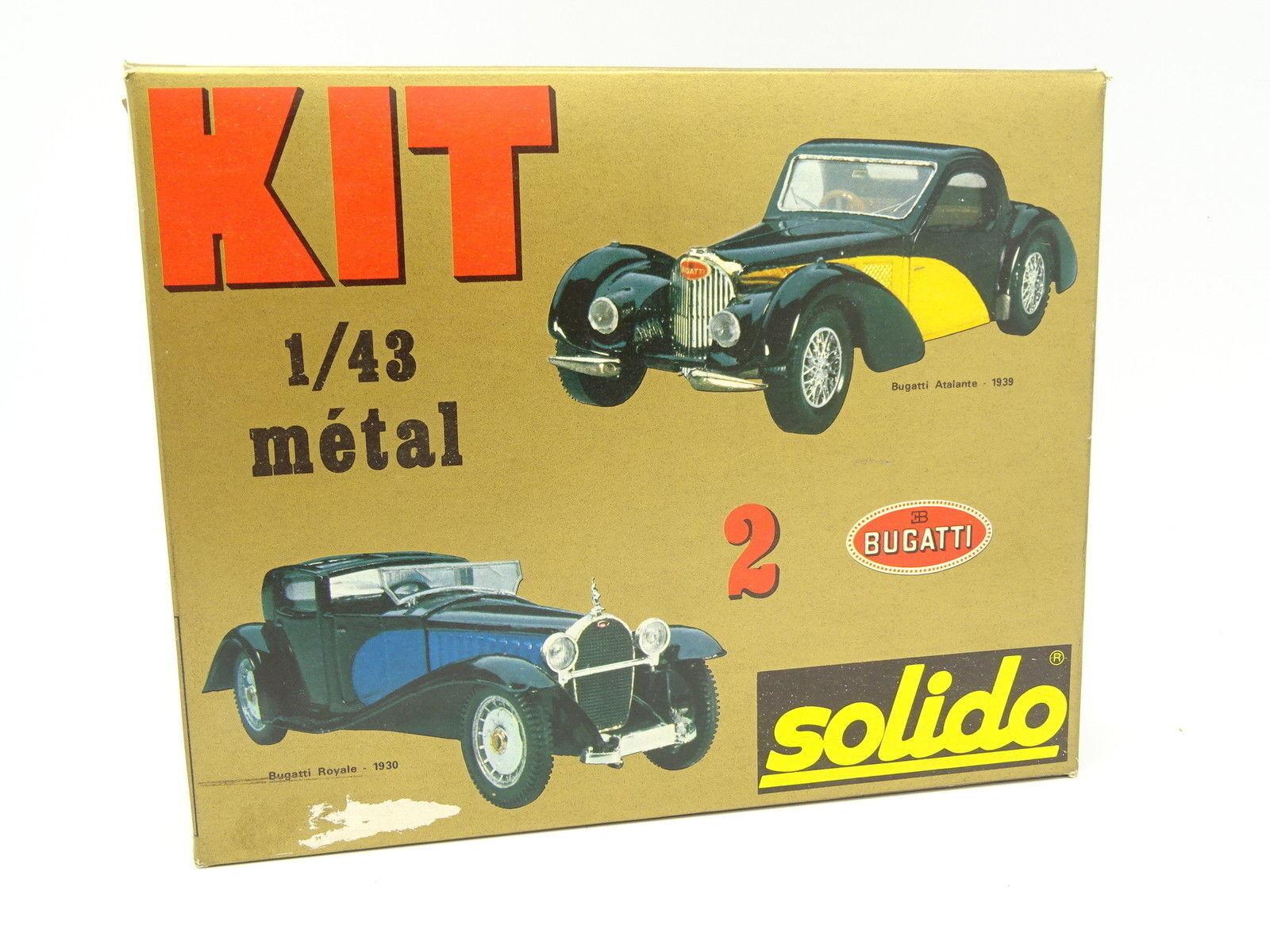 Solido Solido Solido Kit para Montar 1 43 - Bugatti Atalante 1939 y Real 1930 66f767