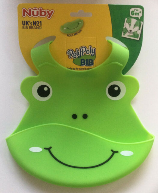 Nuby Green Crocodile Roly Poly Bib
