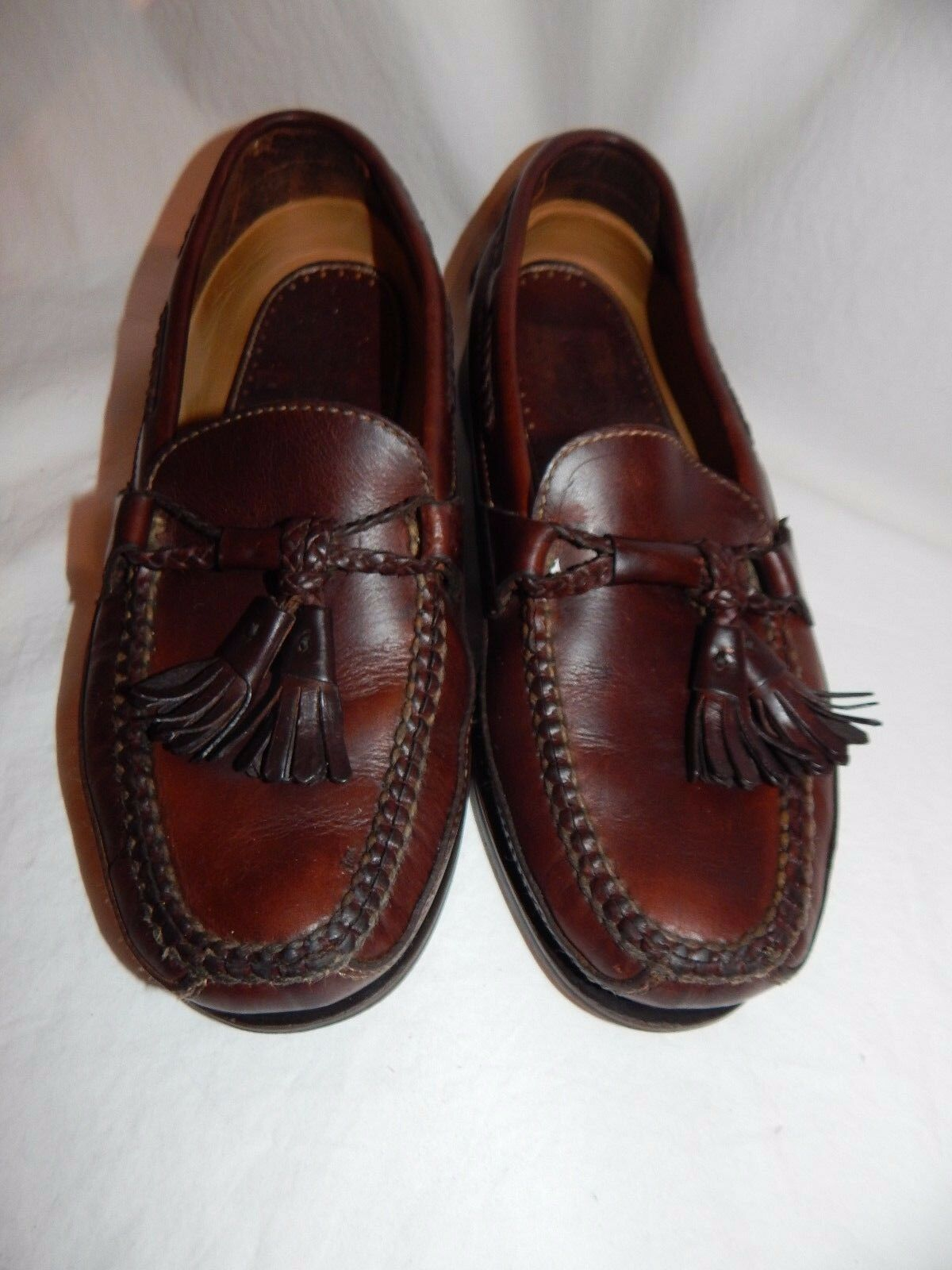Johnston & Murphy Passport Brown Leather Slip-On Loafers Size 8 D Causal shoes