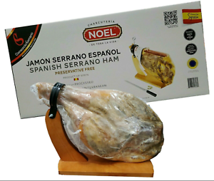 Noel-Jamon-Serrano-Ham-W-stand-amp-Knife-14-3-Lb-SHIPS-EXPEDITED-SAME-DAY
