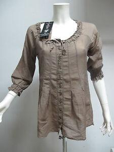 EUROPEAN-CULTURE-camicia-donna-art-6630-col-BEIGE-SCURO-tg-XL-ESTATE-2012