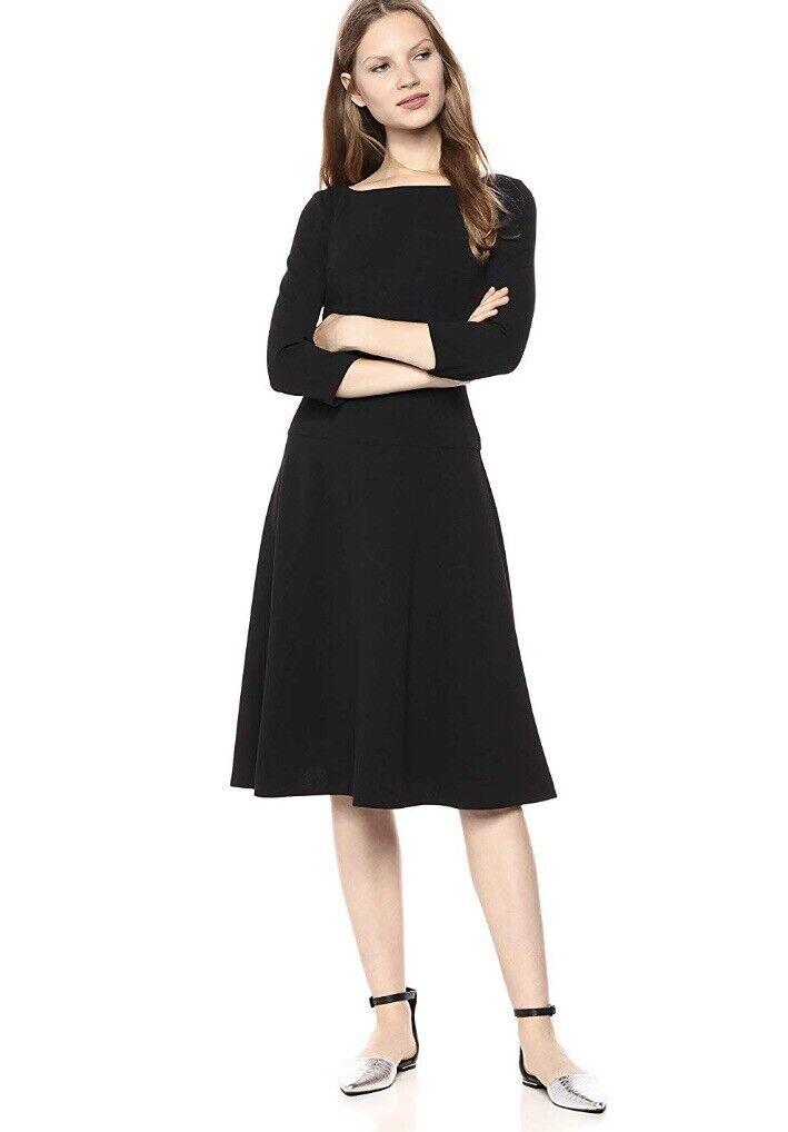 Beautiful damen Morgan Dress NWT Größe 4 schwarz  Midi Length Fit Flare
