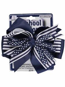 School-Uniform-034-Dots-over-Stripes-034-Hair-Clip