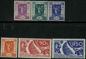 France-Scott-315-320-Set-of-6-Mint