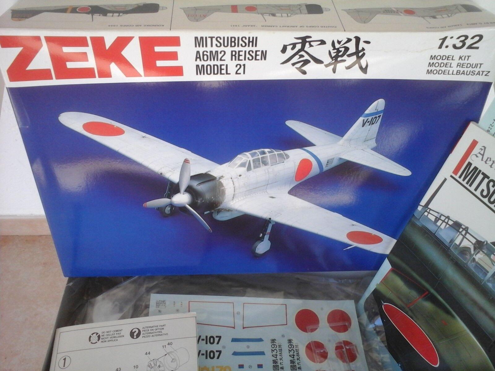 ZEKE MITSUBISHI- A6M2 REISEN MODEL 21  1 32 SWALLOW MODEL
