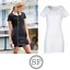 SF LADIES T-SHIRT DRESS COTTON SCOOP NECK SPORT STYLE SHORT SLEEVE FITTED CASUAL