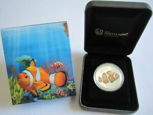 Australia-50-Cents-2010-Sea-Life-Clownfish-1-2-Oz-Silver