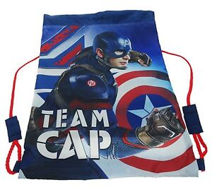 Marvel Captain America | Civil War | Team Cap | Shield Trainer | Drawstring Bag