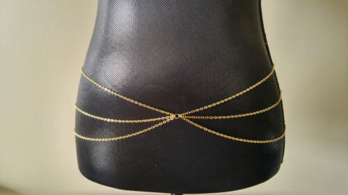New GOLD WAIST CHAIN Body Chain Jewelry Belly Chain Necklace FREE SHIPPING