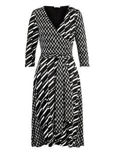Alba Moda Kleid dreiviertelarm feminin geometrisch ...