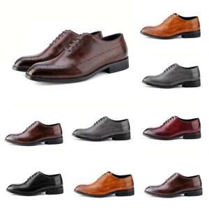 quality design c8916 d06ed Details zu Lederschuhe Schnürer Business-Schuhe Herrenschuhe Budapester  Mehrfarbig Formell