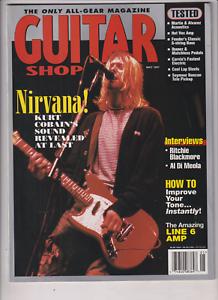 Nirvana Kurt Cobain Ritchie Blackmore Al Di Meola May 1997 Guitar Shop magazine