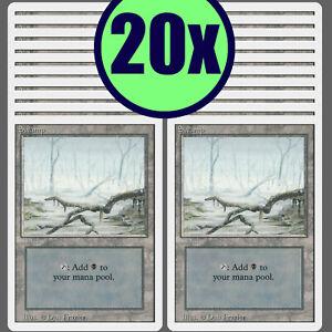 20x SWAMP Revised Same Art Basic Land NM/LP MTG Magic the Gathering