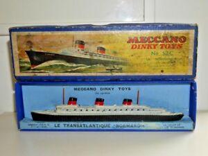 Dinky Toys 52 C La Normandie Transatlantique Paquebot Navire 1935-1940 Boxed-rare B877-afficher Le Titre D'origine