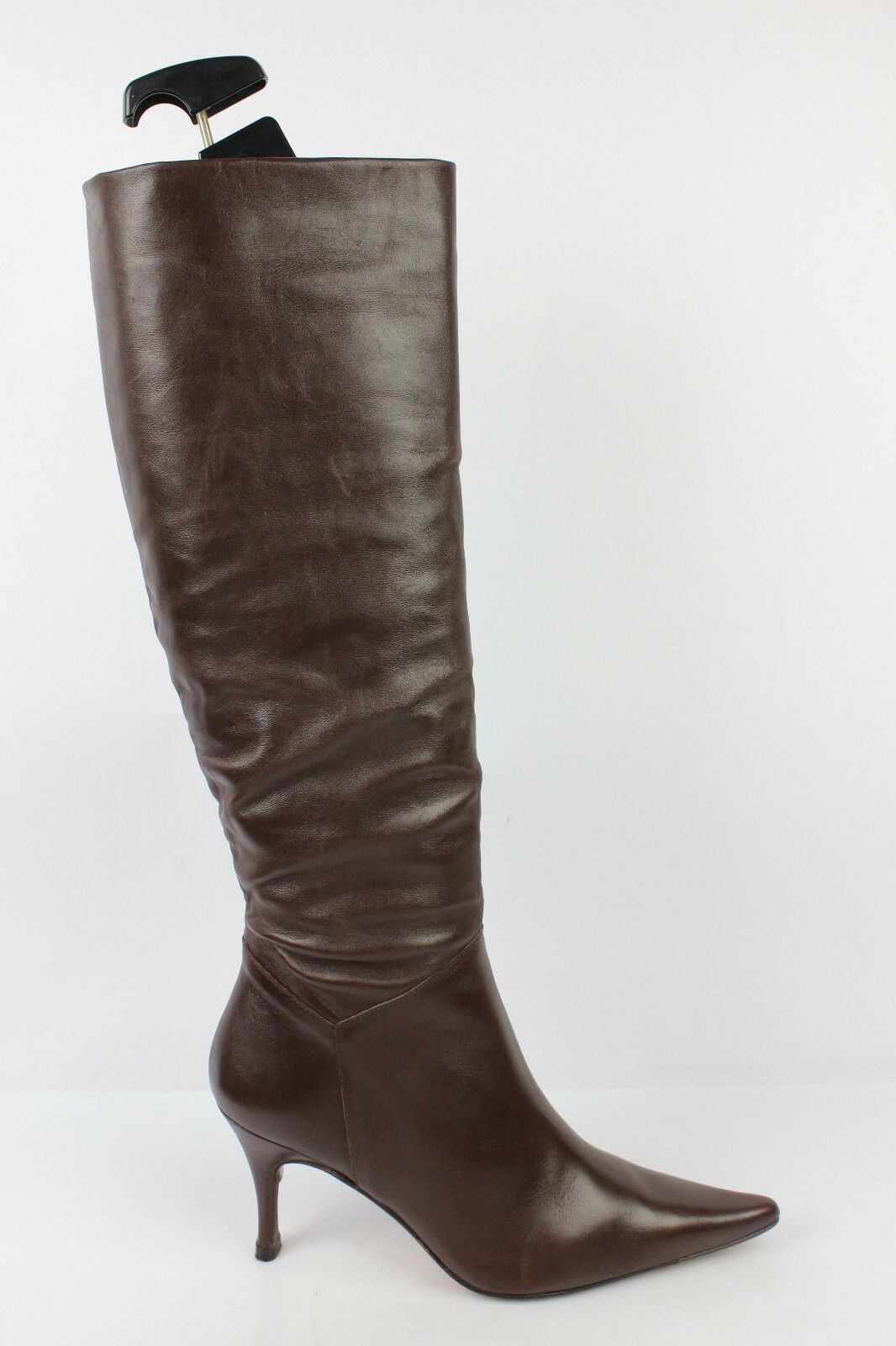 Boots Heels Needle VIVALDI Paris All Brown Leather FR 36,5 36,5 36,5 VERY GOOD CONDITION b5e900