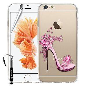 Madcase Cute Designs Clear Silicone Gel Diamante Case For Apple