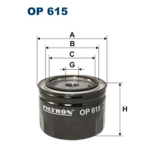 OP615 Ölfilter Motorölfilter Öl-Filter FILTRON