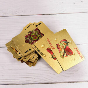 New-Plastic-Playing-Cards-Collection-Gold-Diamond-Poker-Cards-ZY-shiny