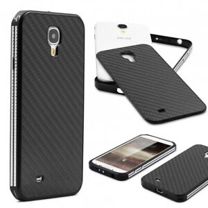 Samsung-galaxy-s4-carbone-veritable-Back-etui-Portable-Housse-de-protection-anti-chocs-en-aluminium