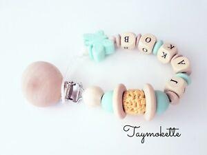 Schnullerkette mit Namen Junge Babygeschenk Geburt