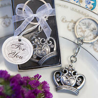 10 Royal Crown Design Key Ring Favors Wedding Favor Bridal Shower