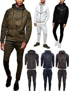 Mens-Camouflage-Camo-Design-Tracksuit-Slim-Fit-Joggers-Pants-Bottoms-Zip-Hoody