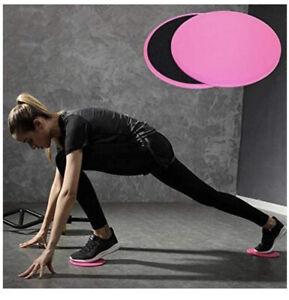 Core Gliding Discs Slider Disc Exercise Sliding Plate Bums Yoga Gym Training 2PC