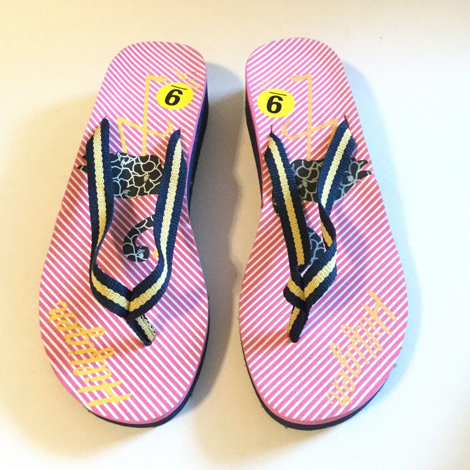 Tommy Hilfiger Women Size 9 Flip Flop Pink Navy S… - image 11