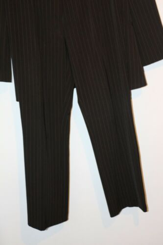 Career In Italy Stripes Made Women's 8 With Suit Black m Sz Tan