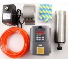800w Cnc Spindle Motor 110v Water Cooled Er11bracket Pump 15kw Vfd Inverter