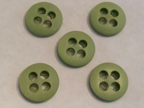 """5 New Old Stock Vintage plastic green /""""whistle type/"""" large holes 7//8/"""""""