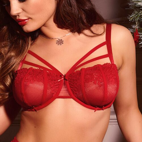 50000 Pour Moi Contradiction Strapped Underwired Bra Scarlet