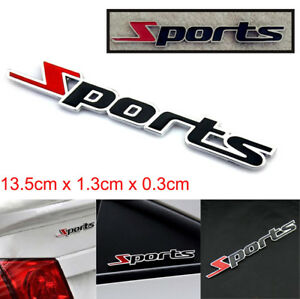 HOT-Sports-emblem-badge-metal-chrome-Autocollant-Voiture-Logo-3D-Decal-Decor-Mot-LETTRE