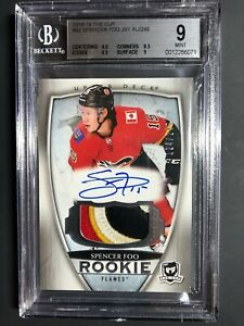 2018-19-The-Cup-Spencer-Foo-Rookie-4-Color-Patch-Auto-249-BGS-9-10-Auto