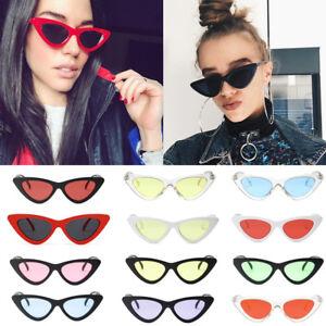 Womens Vintage Retro Cat Eye Triangle Sunglasses UV400 Eyewear Fashion Ladies