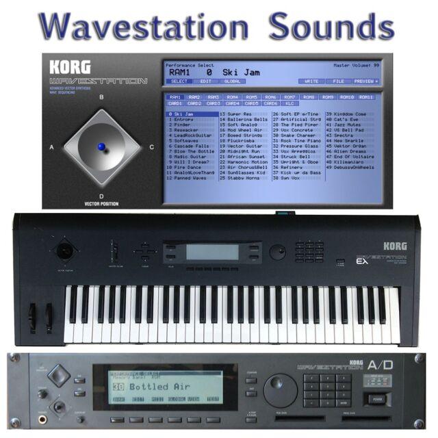 Korg Wavestation A/D + VST/AU Legacy Largest Sound Collection