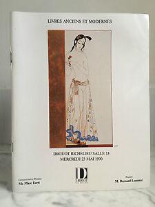 Catalogue Di Vendita Libri Antichi E Moderno Sala N°13 Drouot 23 Mai 1990