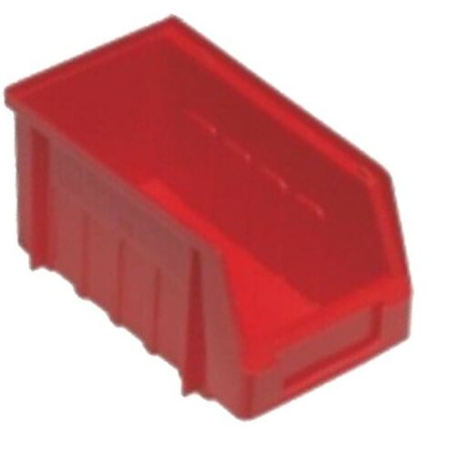 20 x SIZE 2 RED PLASTIC PARTS STORAGE STACKING BINS BOXES