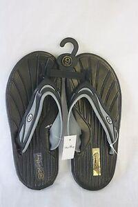 Sandals STAR Bay Sandals Black & Silver Rubber NEW SZ 11
